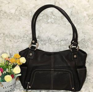 Tignanello Black Genuine Leather Handbag